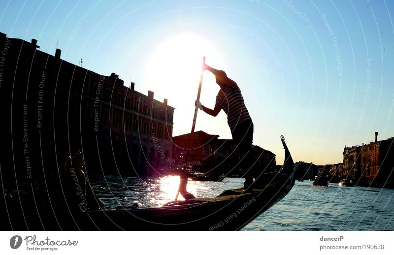 Human being Man Water City Adults Movement Coast Arm Masculine Island Italy Driving Culture River Harbour Village