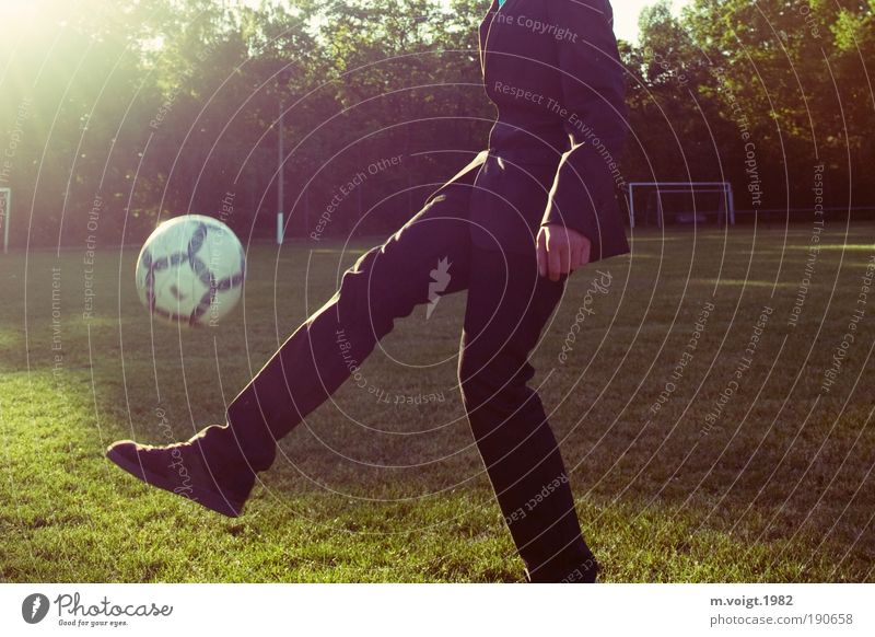Youth (Young adults) Green Joy Meadow Sports Leisure and hobbies Soccer Masculine Foot ball Cool (slang) Athletic Suit Joie de vivre (Vitality) Goal Hip & trendy Ease