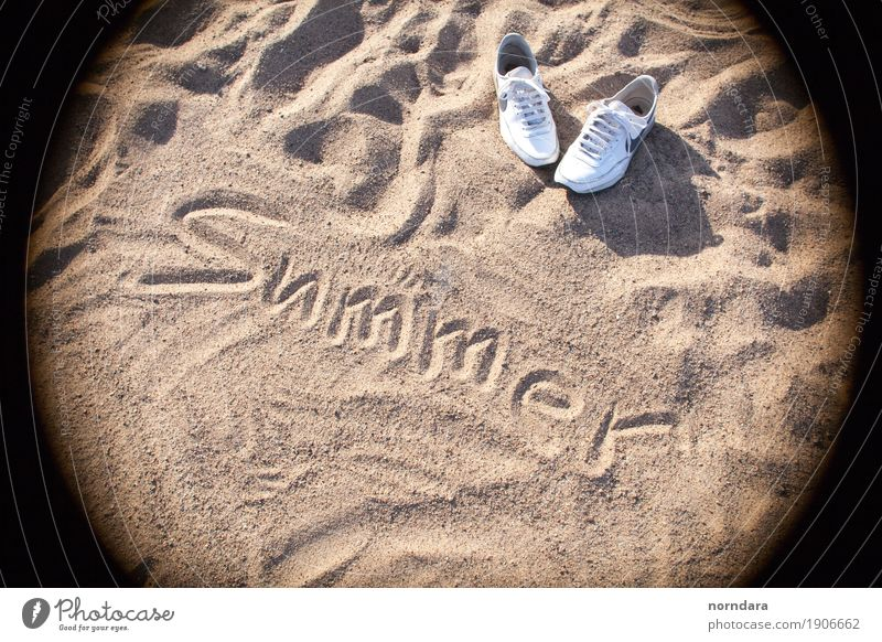 summer Lifestyle Vacation & Travel Tourism Trip Adventure Summer Summer vacation Sun Beach Sand Coast Sneakers Swimming & Bathing To enjoy Walking Colour photo