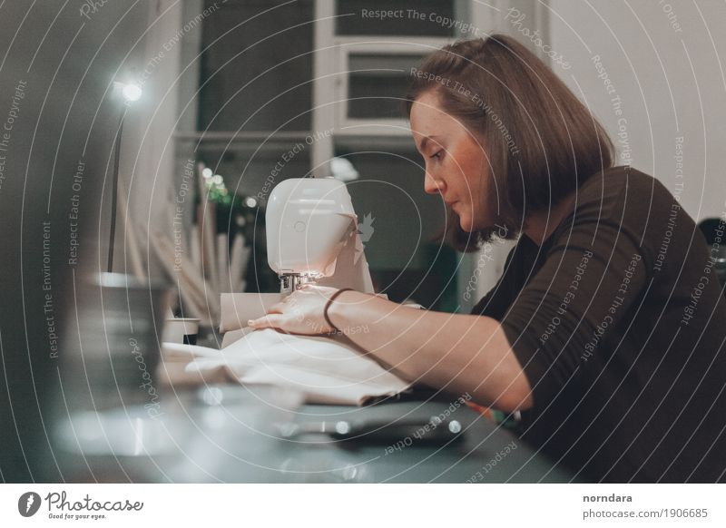 Sewing Woman Youth (Young adults) Young woman Adults Feminine Design Work and employment Leisure and hobbies Profession Workplace Professional training