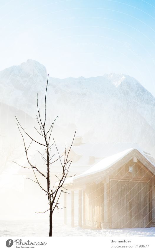 Nature Sky White Tree Blue Winter Vacation & Travel Calm Cold Snow Mountain Landscape Ice Bright Environment Frost