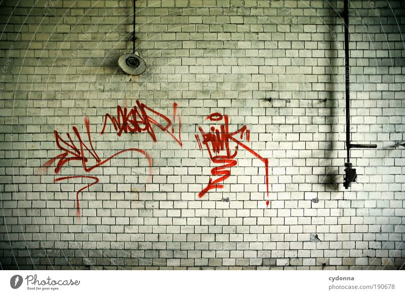 Wall (building) Graffiti Freedom Style Wall (barrier) Lamp Time Room Facade Design Esthetic Characters Perspective Change Lifestyle Living or residing