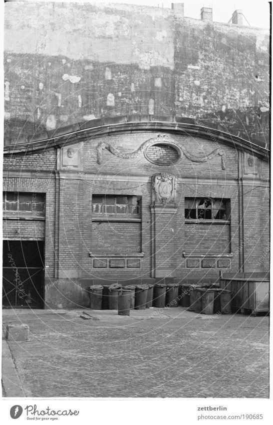 Wall (barrier) Architecture Factory Trash Historic Warehouse Hall Trash container Old building Human being Storage Dispose of Fire wall Art nouveau