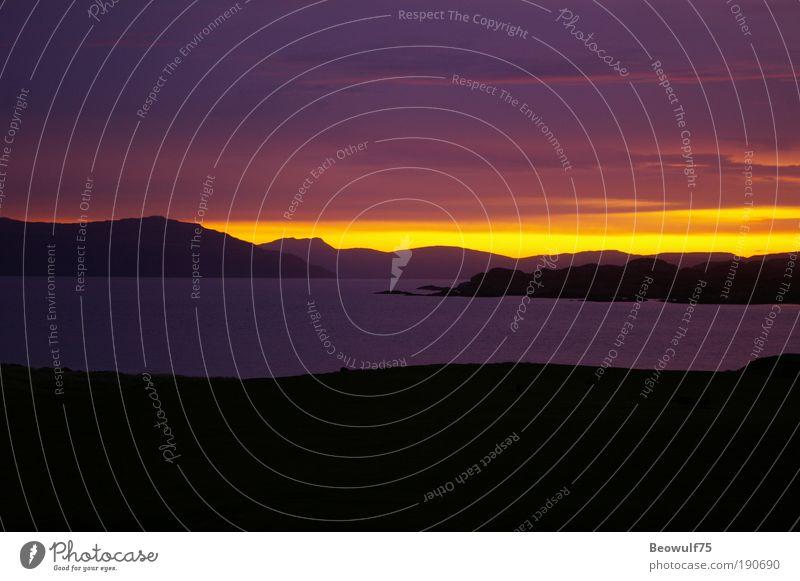 Ionian Dawn Nature Beautiful Calm Black Yellow Colour Autumn Dream Landscape Contentment Moody Coast Pink Environment Gold Horizon