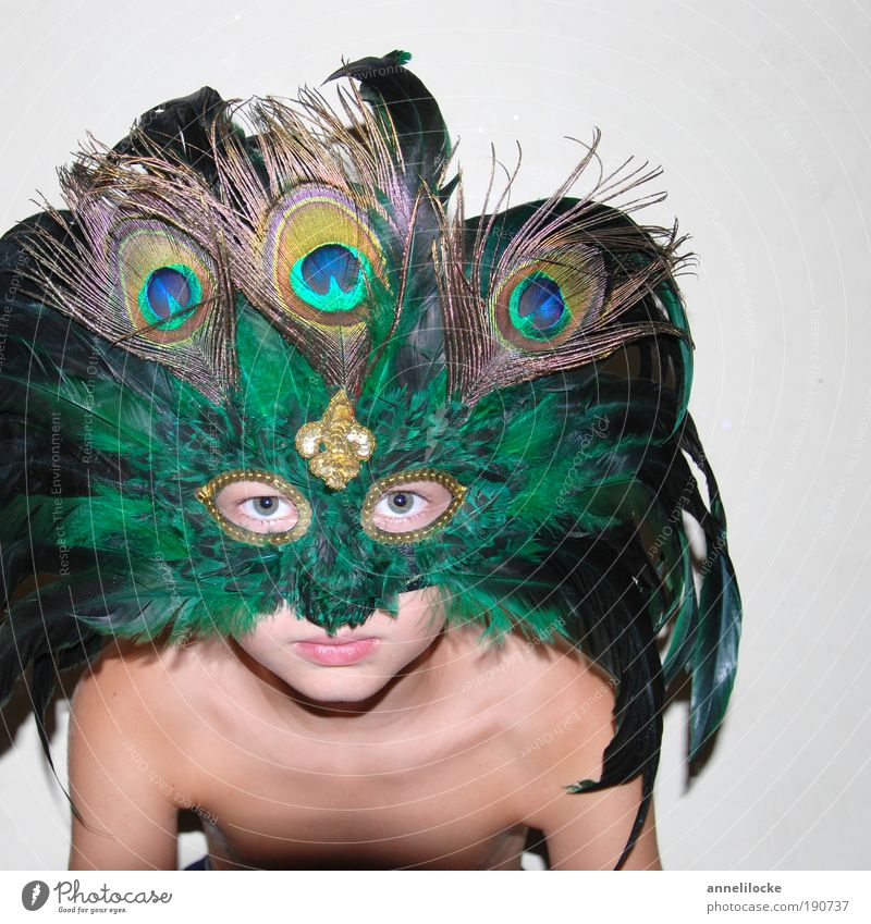Human being Child Green Eyes Face Playing Boy (child) Head Infancy Skin Masculine Mask Carnival Self-confident Carnival costume Light