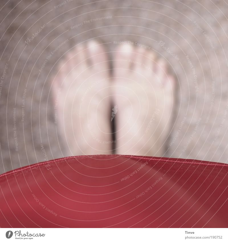 Red Calm Feet Contentment Wait Poverty Stand Perspective Floor covering Clothing Uniqueness Dress Target Mysterious Barefoot