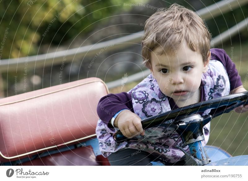 Child Joy Playing Movement Small Car Think Power Success Study Future Safety Might Driving Education Observe