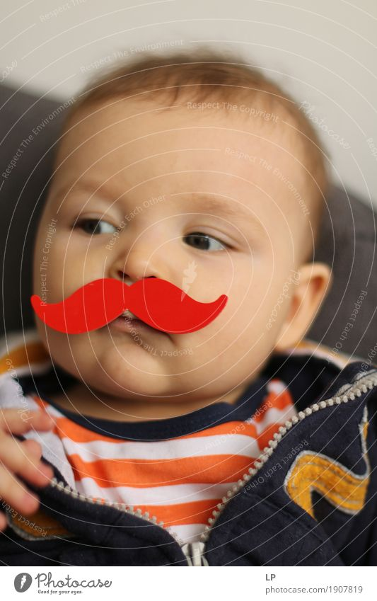 red moustache 1 Human being Child Face Adults Emotions Lifestyle Funny Family & Relations School Feasts & Celebrations Infancy Birthday Baby Curiosity Education
