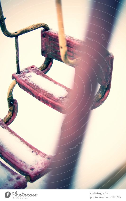 Winter Loneliness Snow Playing Garden Dirty Gloomy Swing To swing