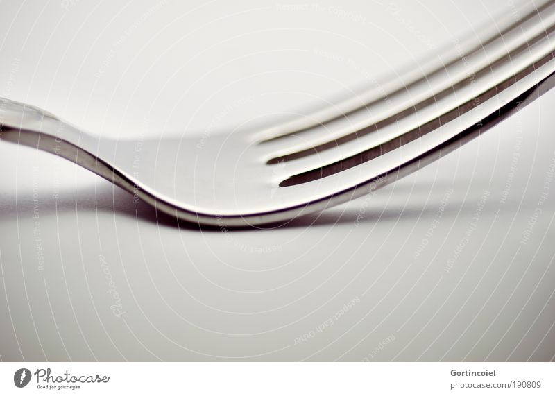FORK Cutlery Fork Elegant Style Design Metal Line Structures and shapes Gray Silver Glittering Highlight Dark Bright Point Glimmer Visual spectacle