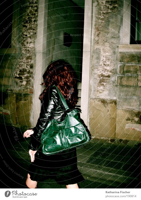 When night is falling ... Hair and hairstyles Night life Going out Feminine Young woman Youth (Young adults) Woman Adults 1 Human being Old town