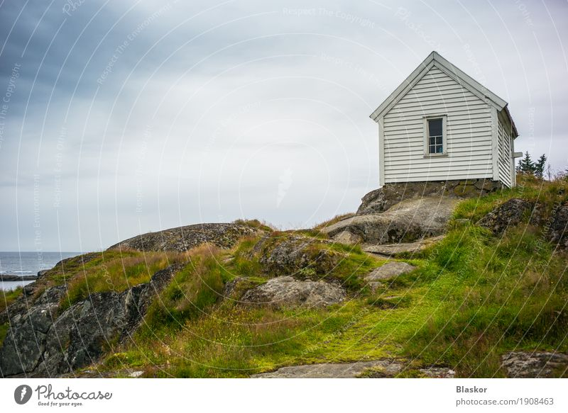 Romantic house on the rocks in Norway Sky Nature Summer Water Ocean Landscape House (Residential Structure) Window Environment Coast Freedom Rock Air Island