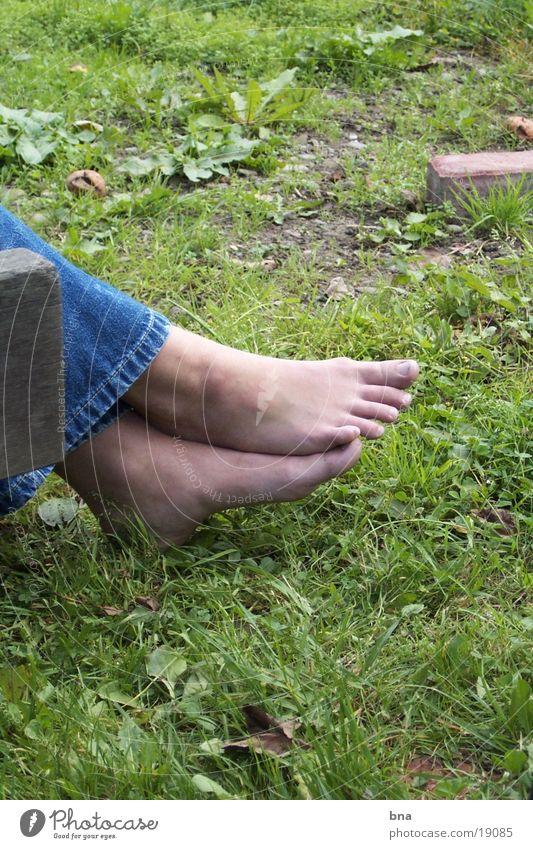 settle down Grass Close-up Calm Woman Feet
