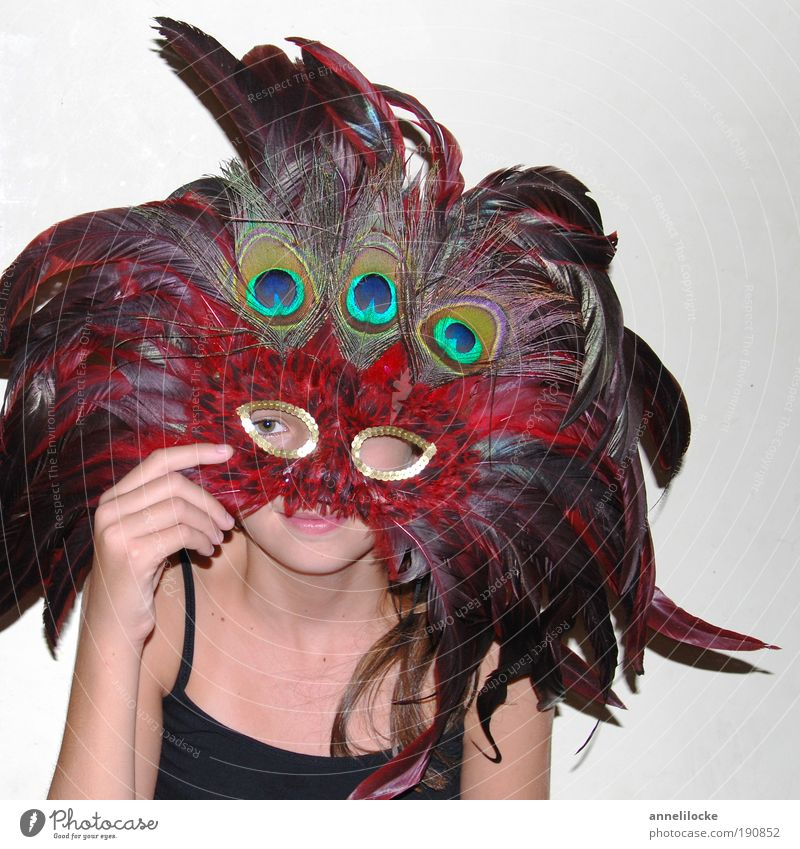 Human being Hand Youth (Young adults) Beautiful Girl Joy Eyes Feminine Playing Feasts & Celebrations Bird Infancy Arm Crazy Living or residing Feather