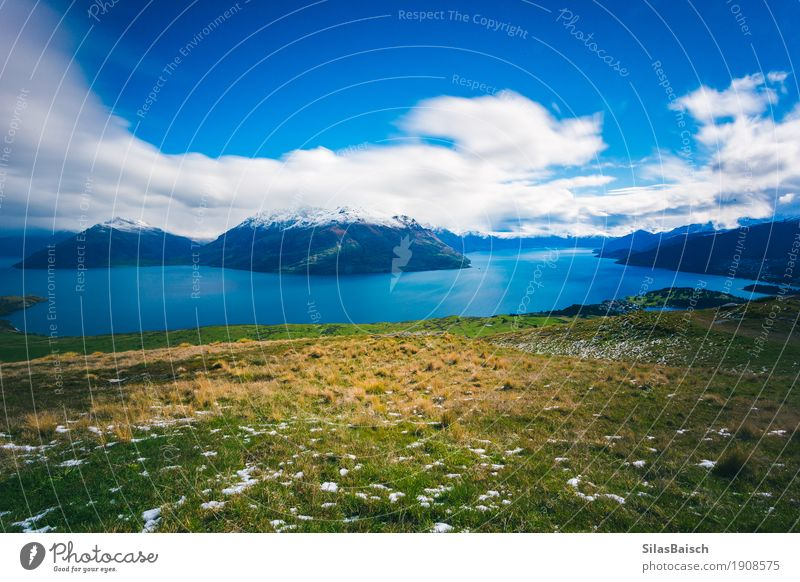 Lake In New Zealand Lifestyle Vacation & Travel Tourism Trip Adventure Far-off places Freedom Expedition Camping Summer vacation Mountain Hiking Nature