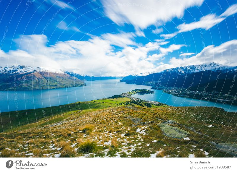 Beautiful Queenstown Lifestyle Joy Vacation & Travel Adventure Far-off places Freedom Summer vacation Mountain Hiking Environment Nature Landscape Plant Clouds