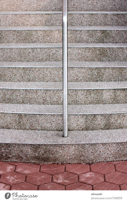 Motif too central Manmade structures Building Architecture Stairs Banister Handrail Stone Concrete Hold To hold on Graphic Subdued colour Exterior shot Abstract