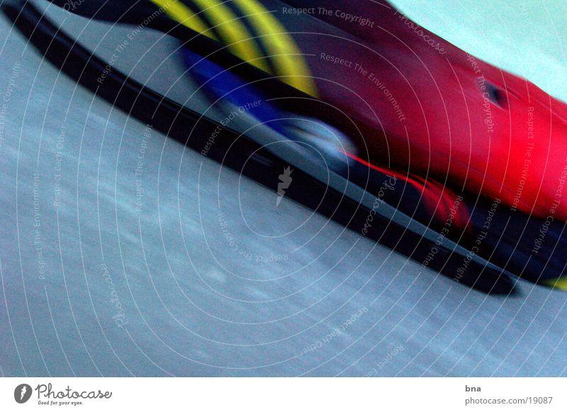 iceracer Sledding Speed Extreme sports Ice Sports luge Bobsleigh track Detail Narrow Aerodynamics Posture Motion blur Stripe Lie