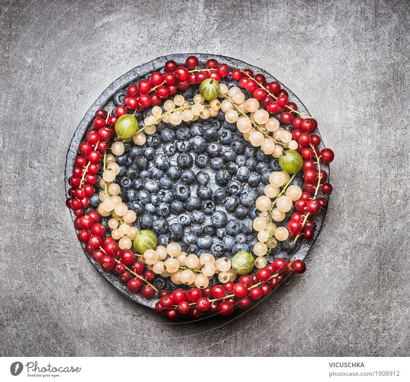 Plate with different berries Food Fruit Organic produce Diet Style Design Healthy Healthy Eating Life Table Berries Selection fruit platter Vitamin