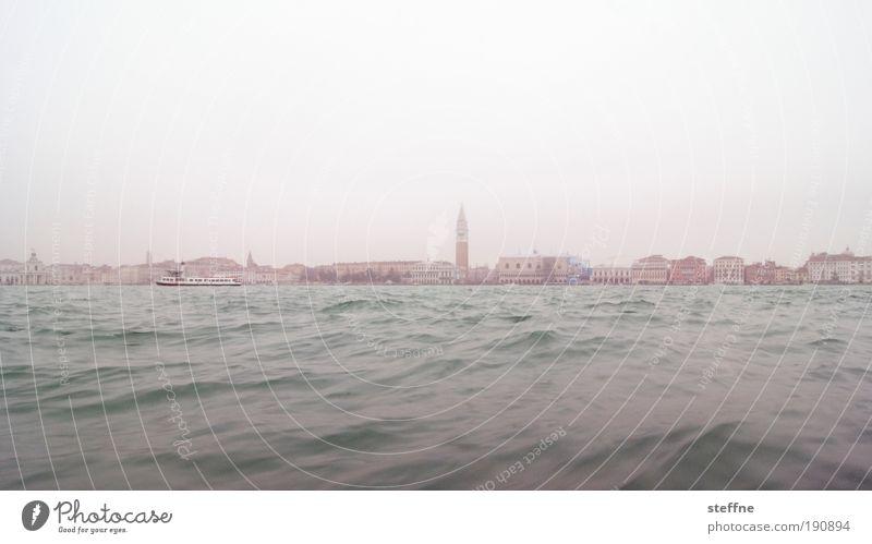 bacino Sky Winter Fog Waves Coast Ocean Venice Italy Town Port City Skyline House (Residential Structure) Church Tourist Attraction Landmark Campanile San Marco