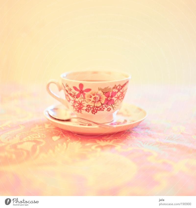 Beautiful Calm Yellow Relaxation Life Bright Crockery Contentment Orange Pink Beverage Coffee Tea Nutrition Cup Plate