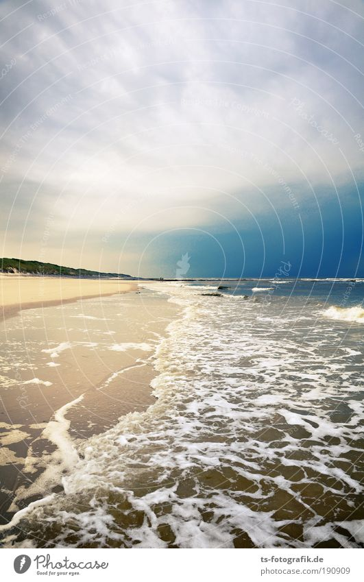 Sky Ocean Blue Summer Beach Vacation & Travel Calm Clouds Dark Relaxation Autumn Sand Brown Coast Waves Nature