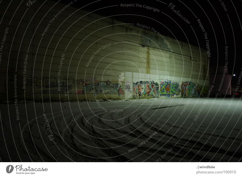 Old White Calm Black Loneliness Dark Cold Wall (building) Wall (barrier) Building Graffiti Art Dirty Facade City Gloomy