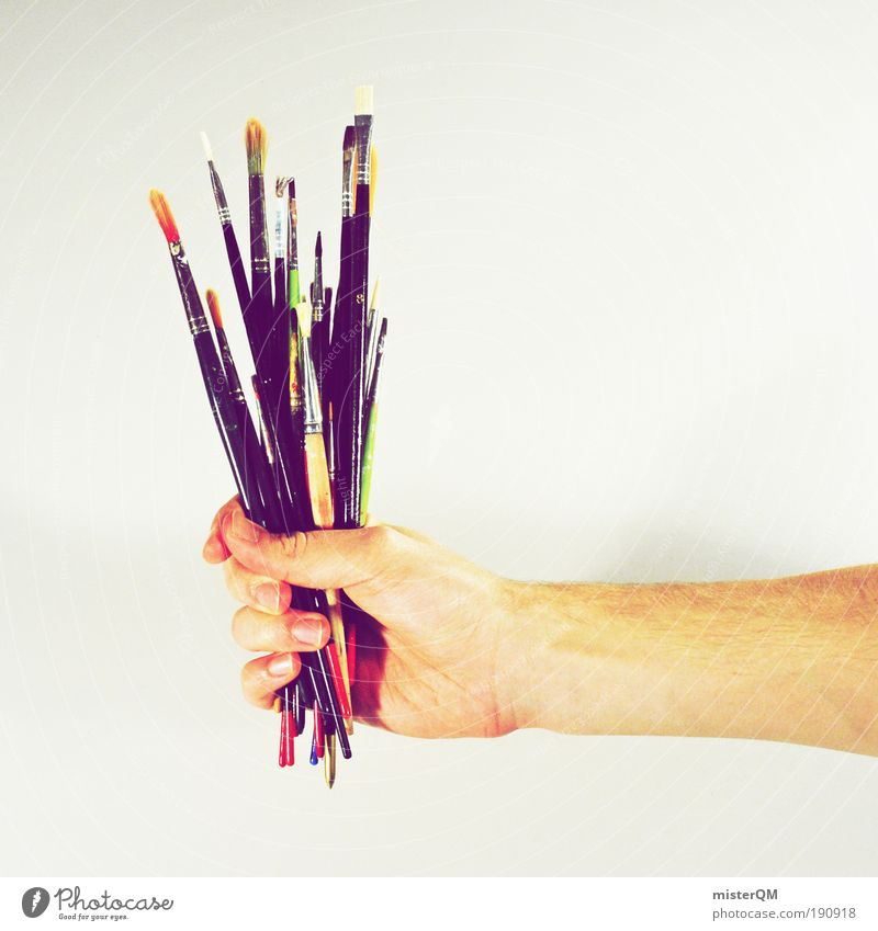 Visual bouquet. Art Artist Painter Exhibition Work of art Painting and drawing (object) Media Print media Esthetic Paintbrush Brush handle Design Design studio