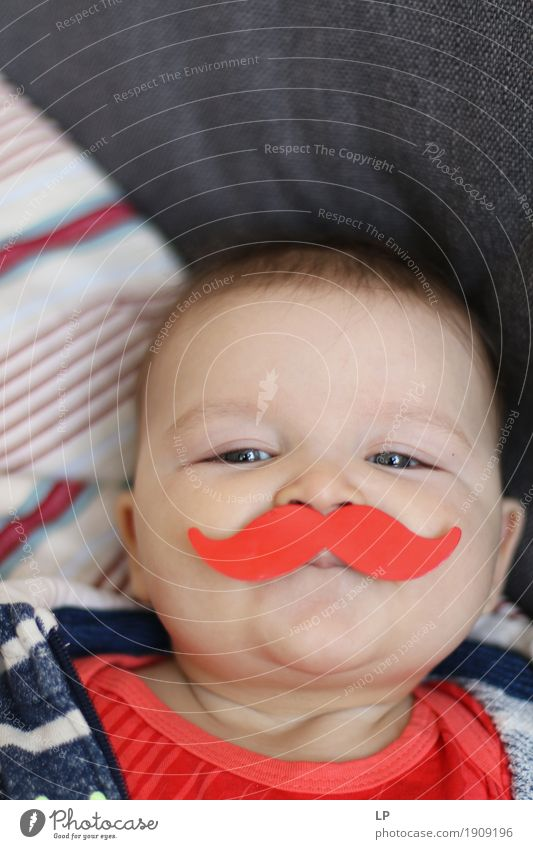 red moustache Human being Child Joy Face Adults Life Emotions Lifestyle Playing Feasts & Celebrations Party Leisure and hobbies Infancy Birthday Baby