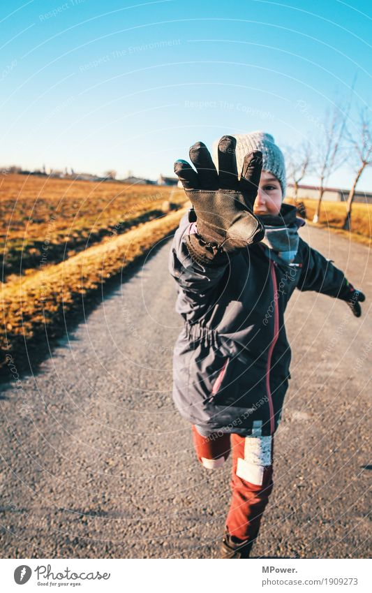 runner Human being Feminine Child Girl Hand 1 3 - 8 years Infancy Environment Nature Beautiful weather Touch Going Running Smart Speed Playing Catch Gloves