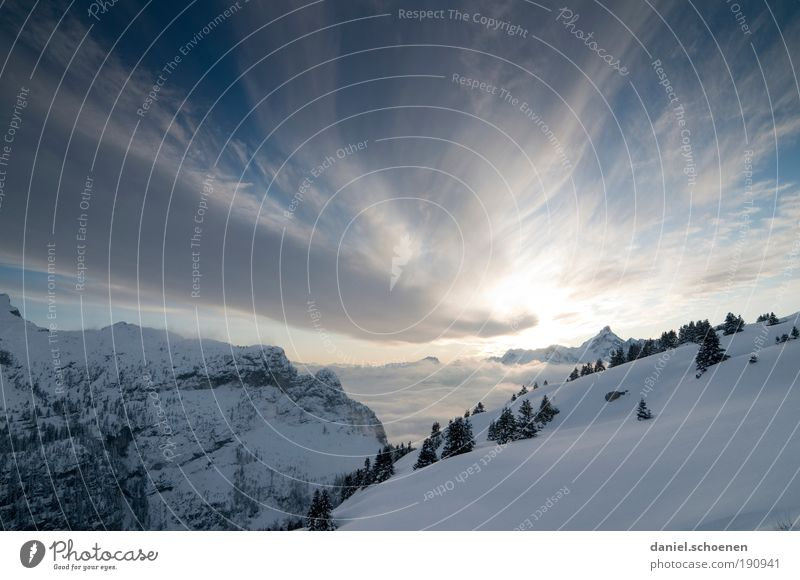 apres ski Vacation & Travel Tourism Trip Far-off places Freedom Winter Snow Winter vacation Mountain Sky Clouds Beautiful weather Alps Blue White Loneliness