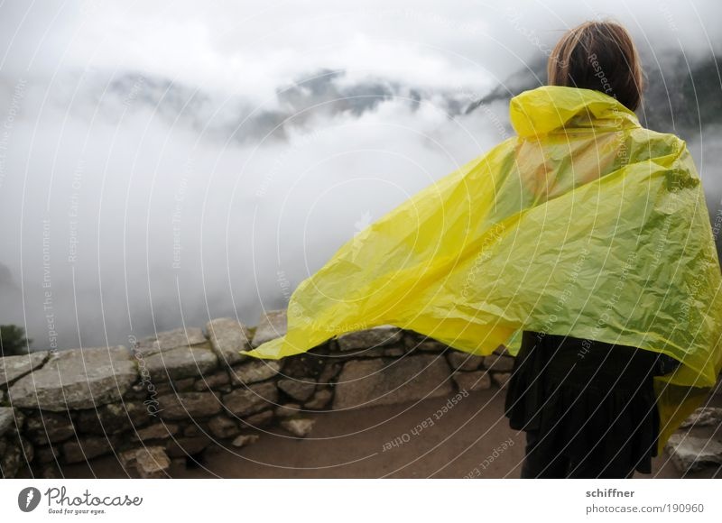 Even more rain at Machu Picchu 1 Human being Clouds Climate Weather Bad weather Wind Fog Rain Virgin forest Vacation & Travel Looking Dream Sadness Rain cape