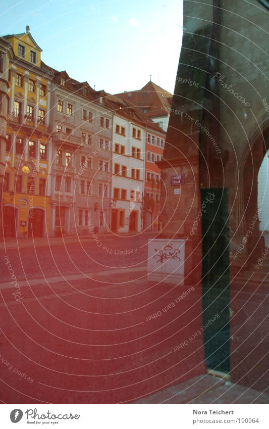 In the mirror of the city goerlitz Small Town Downtown Old town Deserted House (Residential Structure) Places Marketplace Gate Manmade structures Building