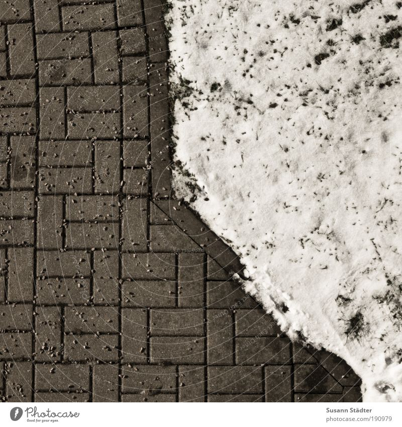 Exemplary Climate Snow Garden Park Meadow Competition Paving stone Cobbled pathway Distribute Snow layer Split grit Slippery surface Dry