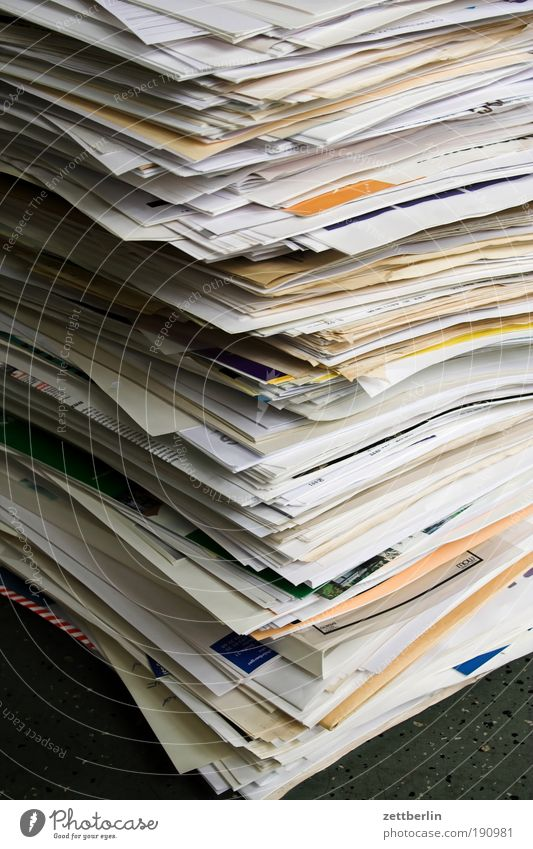 keep records Paper File Document Letter (Mail) Communicate Telecommunications Stack Stack of paper Waste paper Trash Wastepaper Dispose of Wastepaper basket