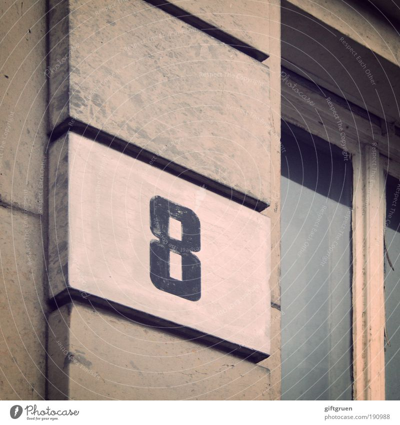 8 House (Residential Structure) Manmade structures Building Architecture Old building Wall (barrier) Wall (building) Facade Window Eight Digits and numbers
