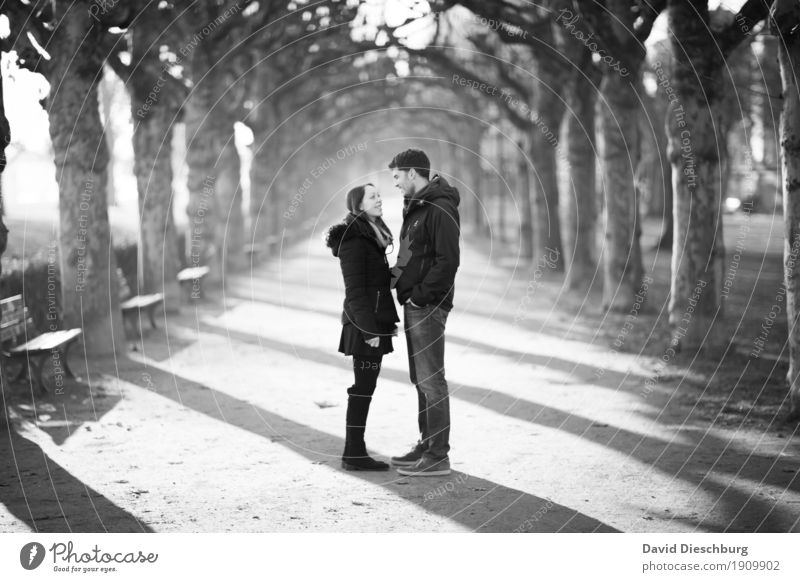 Happiness of Love II Masculine Feminine Young woman Youth (Young adults) Young man Couple Partner 2 Human being 18 - 30 years Adults Nature Spring Autumn Winter