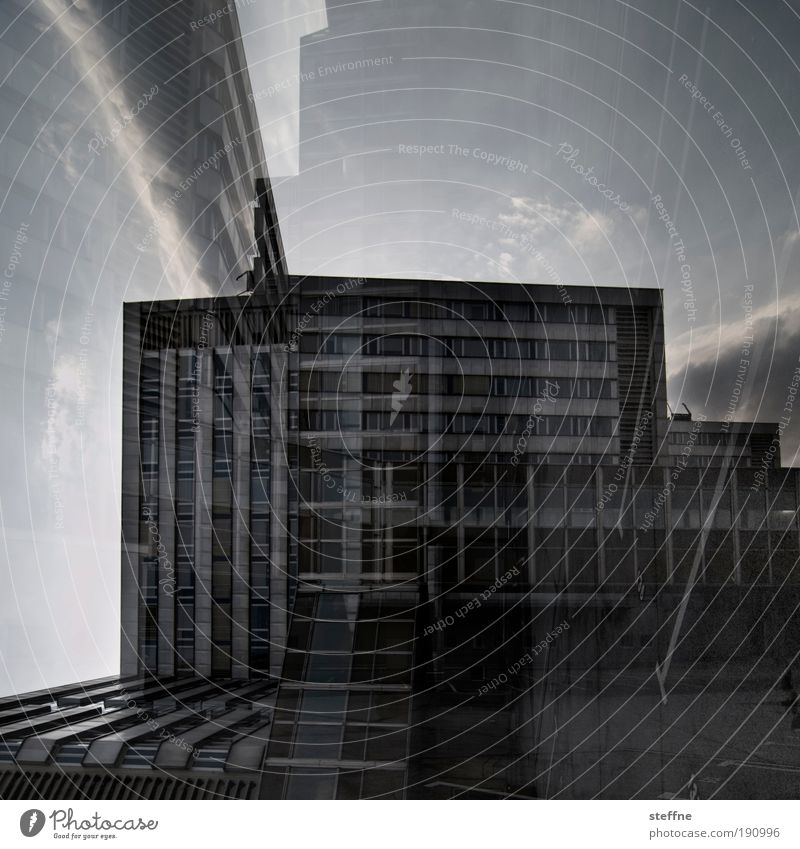City House (Residential Structure) Building Transience Manmade structures Saxony Double exposure Industrial plant Politics and state Chemnitz Socialism