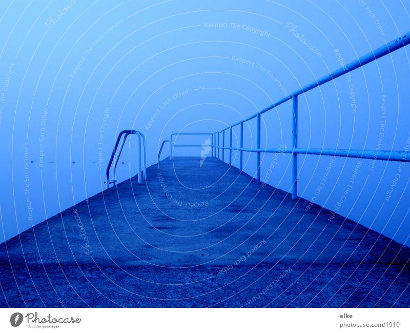 morning fog Lake Fog Footbridge Rain Water Stairs Handrail