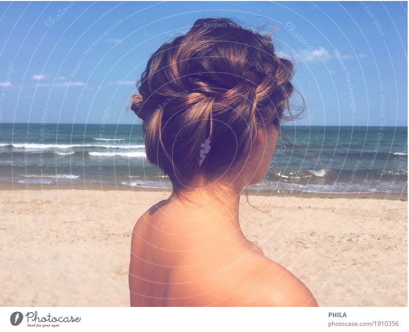 Pflechtlisl Beautiful Body Hair and hairstyles Skin Vacation & Travel Far-off places Freedom Summer Summer vacation Sun Beach Ocean Waves Feminine Young woman
