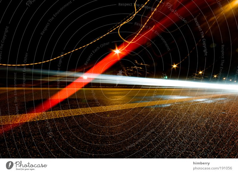 Street Movement Lanes & trails Art Power Energy Design Transport Energy industry Success Speed Motion blur Night Future Cool (slang) Light