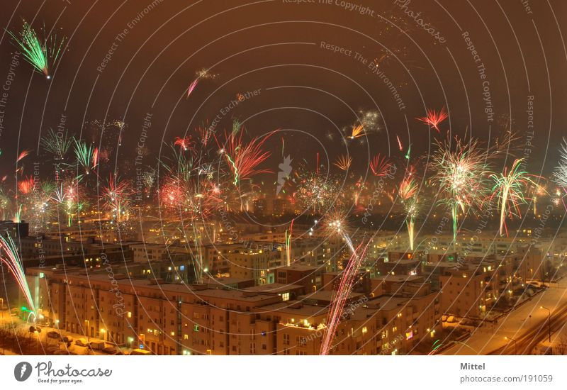 Sky Berlin City Moody Night New Year's Eve Firecracker Capital city Event Feasts & Celebrations