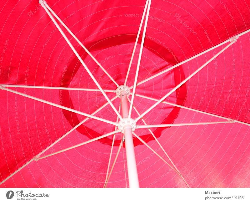 Umbrella red/white Sunshade White Red Round Leisure and hobbies linkage spanned