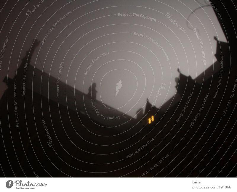 Yellow Dark Above Window Stone Wall (barrier) Fear Fog Roof Threat Mysterious Castle Upward Ghosts & Spectres  Eerie