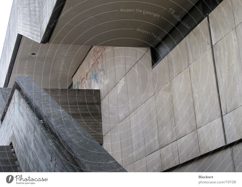 Wall (building) Gray Architecture Concrete Stairs Corner