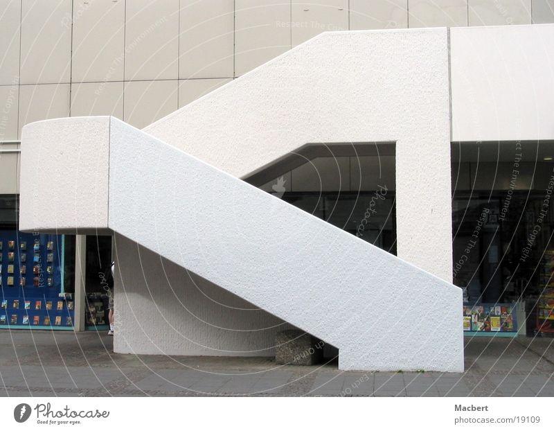 White Dark Bright Architecture Stairs Round Arch