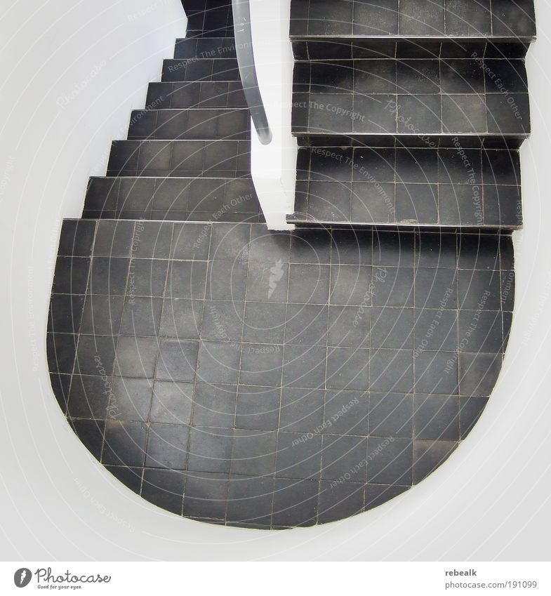 White House (Residential Structure) Cold Architecture Planning Design Elegant Abstract Stairs Arrangement Esthetic Round Simple Uniqueness Tile