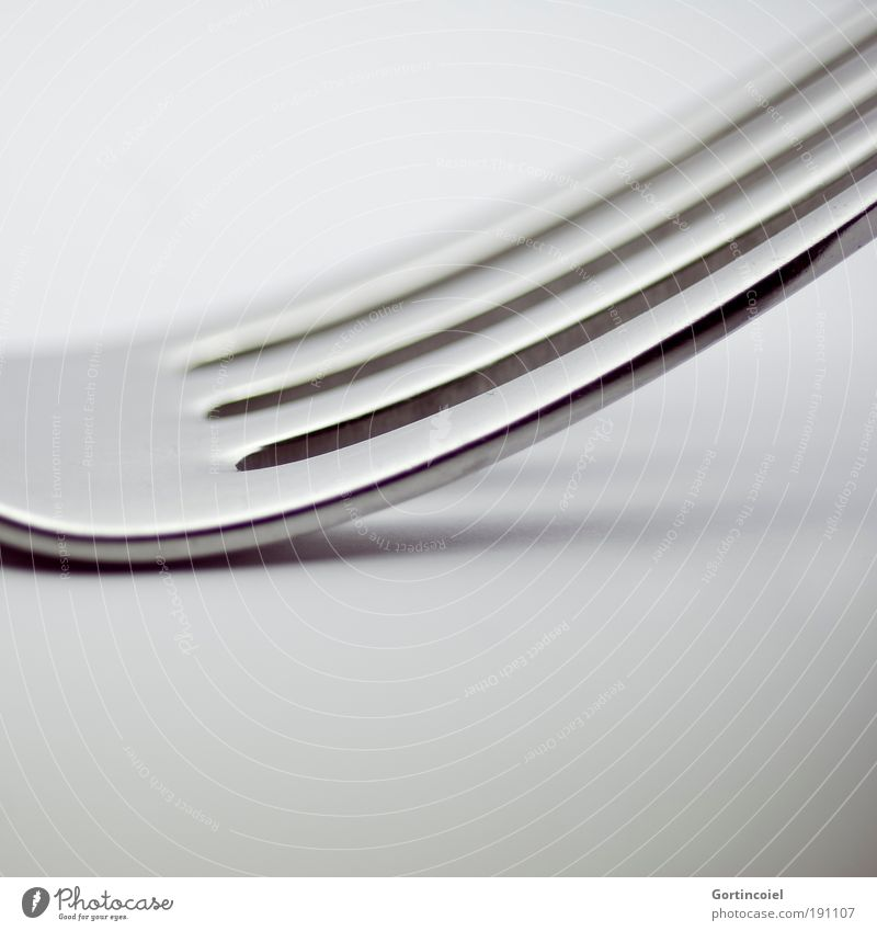 lines Nutrition Cutlery Fork Elegant Style Design Metal Line Structures and shapes Gray Silver Glittering Highlight Dark Bright Point Glimmer Visual spectacle