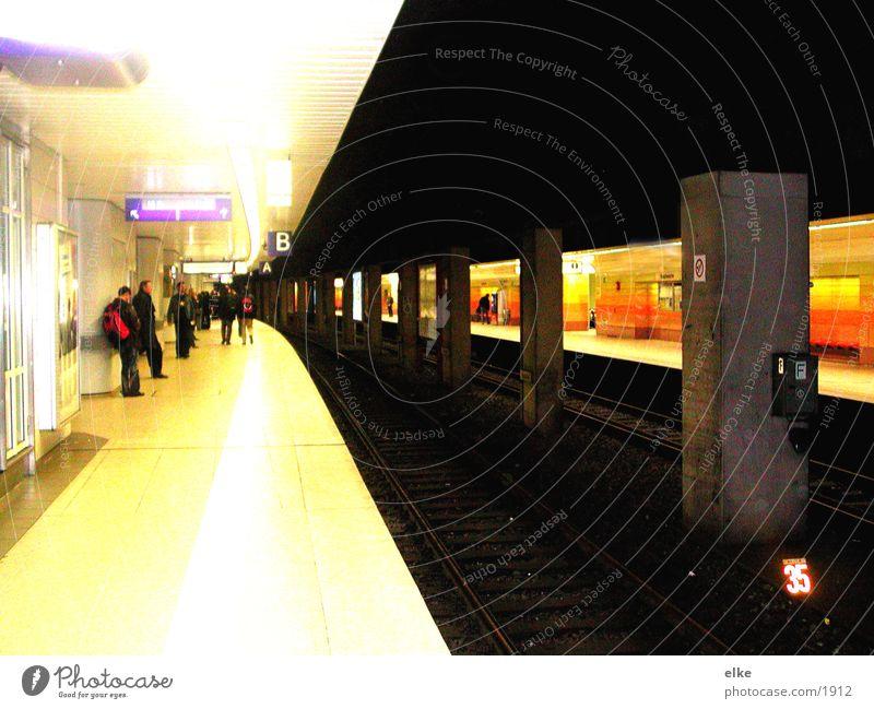 juxtaposition Commuter trains Transport ubah from platform to platform Human being Wait contrast...