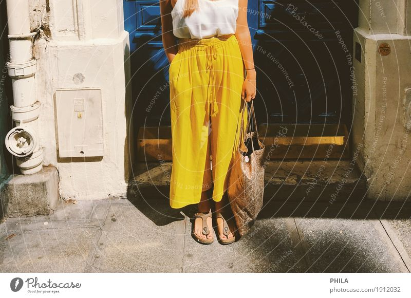 Vacation & Travel Blue Summer Joy Yellow Lifestyle Style Fashion Facade Leisure and hobbies Modern Door Fresh Happiness Uniqueness Joie de vivre (Vitality)